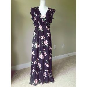 Free Press Floral Maxi Dress